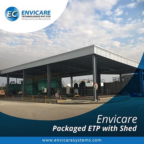 packaged ETP with shed